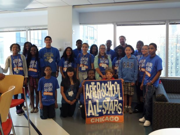 Some of the participating students at the CampUs Chicago program